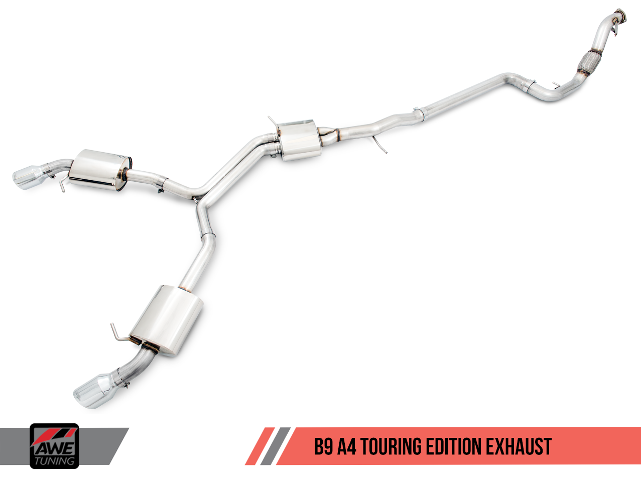 AWE Touring Edition Exhaust for Audi A4 B9
