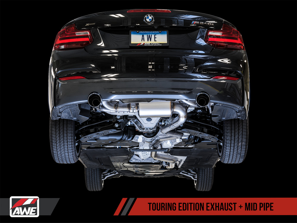 AWE F22 2-Series M235i M240i Tuning Exhaust Touring Edition Midpipe Installed