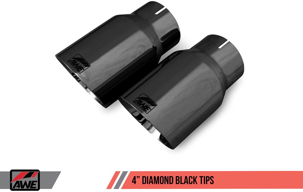 AWE Tuning Diamond Black Exhaust Tips