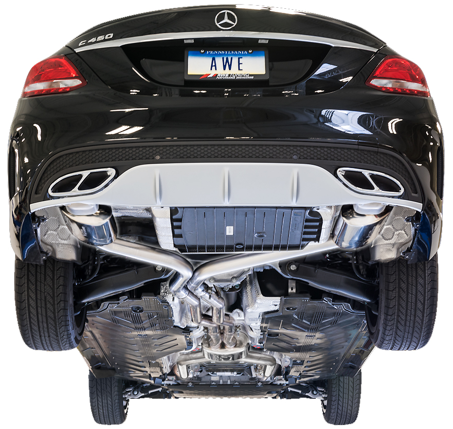 AWE Tuning Touring Edition Exhaust System Installed on Mercedes Benz C43/C450AMG/C400 W205