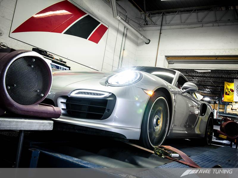 Porsche AWE Tuning Exhaust Dyno Testing