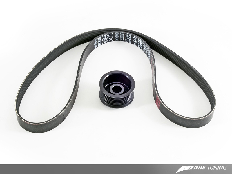 AWE Tuning Stage 2 Performance Pulley Kit for B8.5 Audi S4/S5 Pulley and Belt