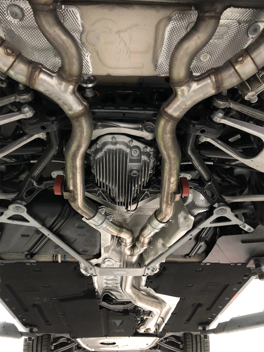 Active Autowerke M2 Competition Midpipe - Installed