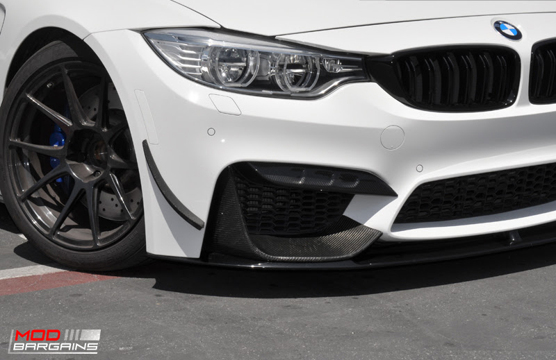 AutoTecknic Competition Carbon Fiber Bumper Trim for 2014+ BMW M3 M4 F80 F82