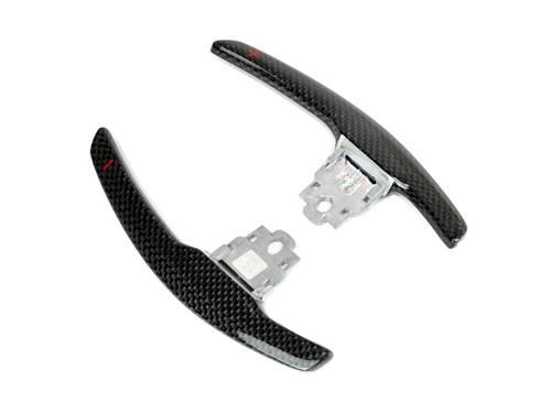 Competition Shift Paddles in Gloss Carbon - Red Indicator