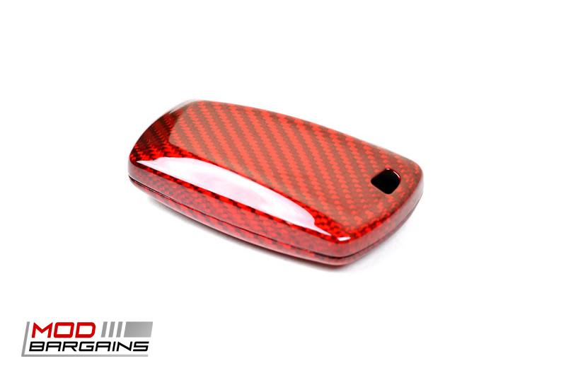 Auto Tecknic Carbon Fiber Key Case F-Chassis Vehicles F22 F23 F87 F30 F31 F34 F80 F32 F33 F36 F82 F10 F03 F12 F13 F01 Red ATK-BM-0001-RC