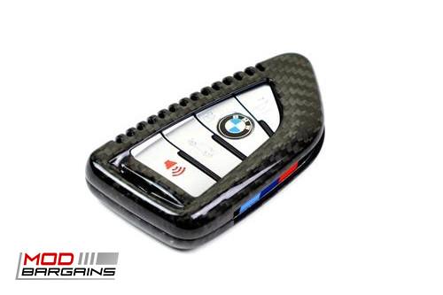 Auto Tecknic Carbon Fiber Key Case F-Chassis G-Chassis Vehicles X1 F48 X3 G01 X5 F15 X5M F85 X6 F16 X6M F86 5 Series G30 Black Installed ATK-BM-0002-BC