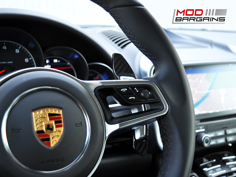 Auto Tecknic Dry Carbon Fiber Competition Shift Paddles Porsche 718 Boxter Cayman 911 Carrera Turbo S GT3 RS Panamera Macan Cayenne 918 Spyder