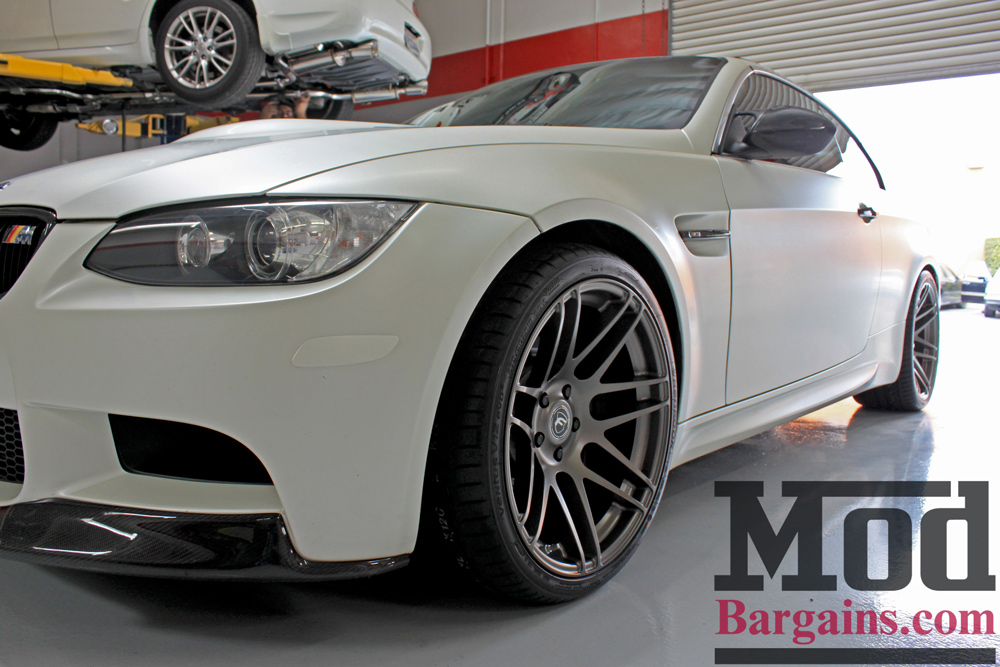 E92 BMW OEM Painted Front Reflectors Installed
