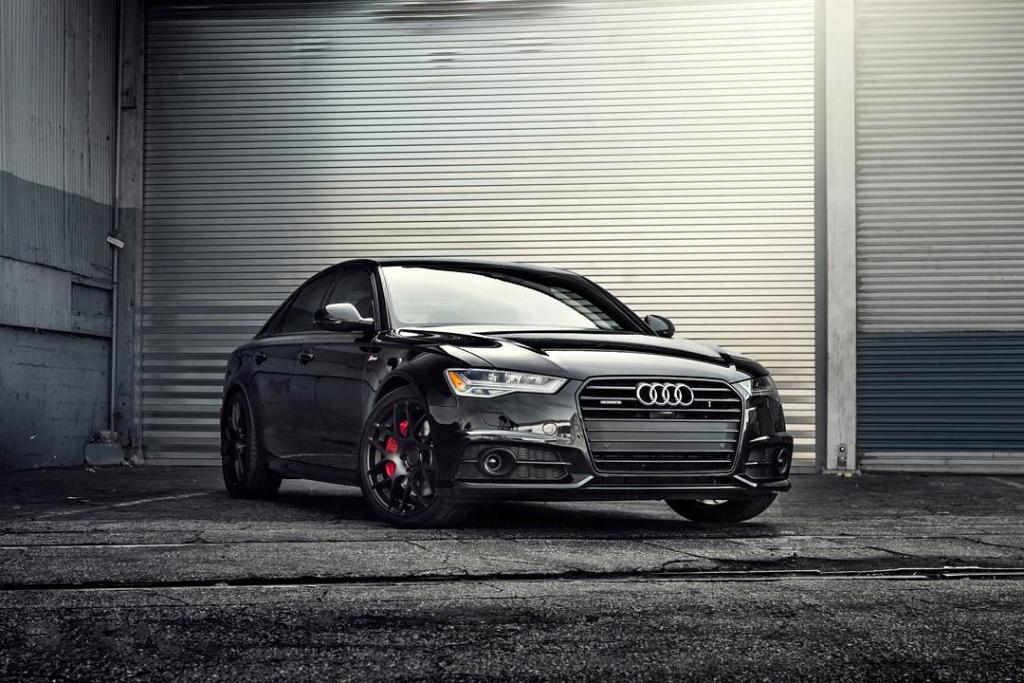 Avant Garde M610 Wheels in Matte Black on Audi A6 (2)