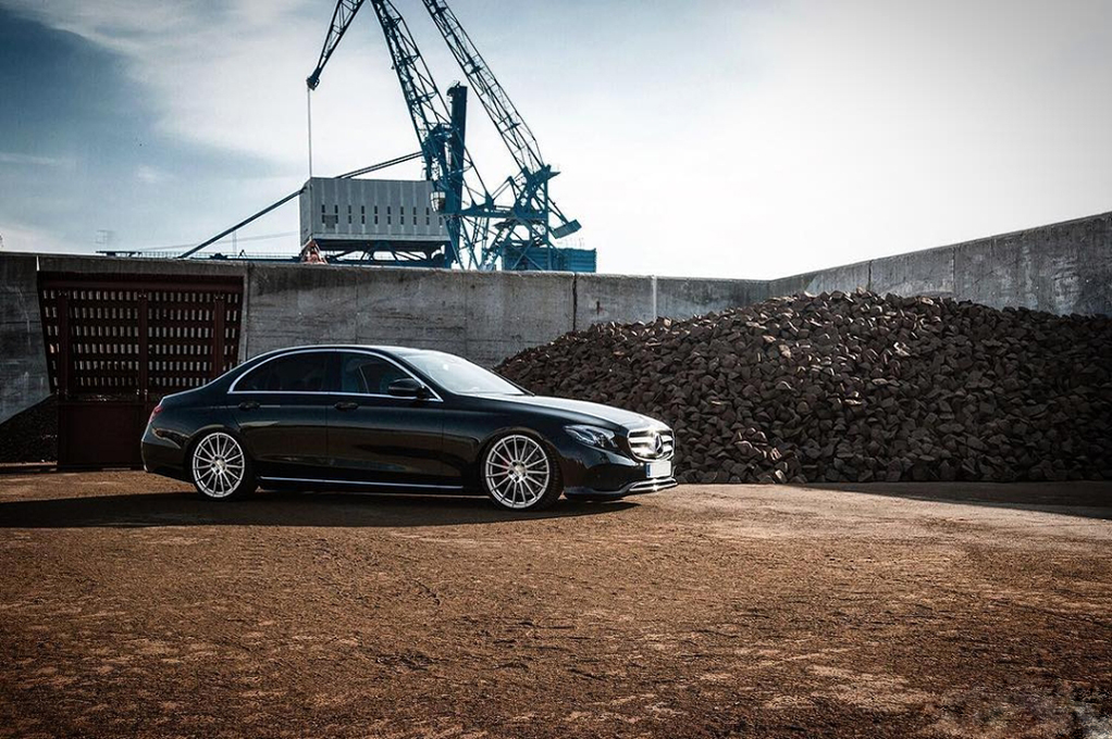 Avant Garde M615 Machine Silver on Mercedes Benz E350d