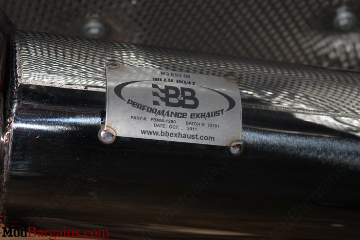 Billy Boat Performance Exhaust M3 E92 FBMW-1260
