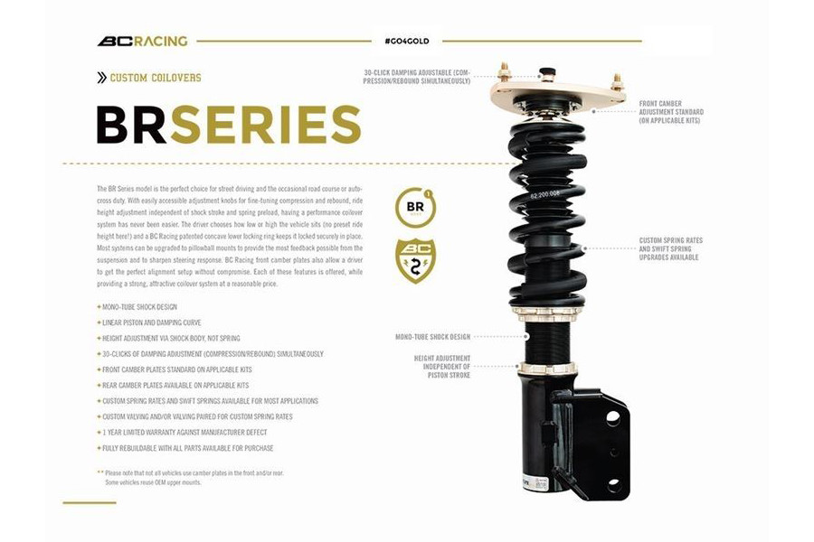 BC Racing Adjustable Coilovers BMW F83 M4 Convertible Cabriolet Cabrio Lowering