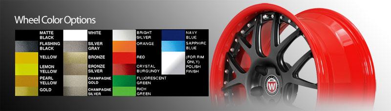 BC Racing Wheels Color Options