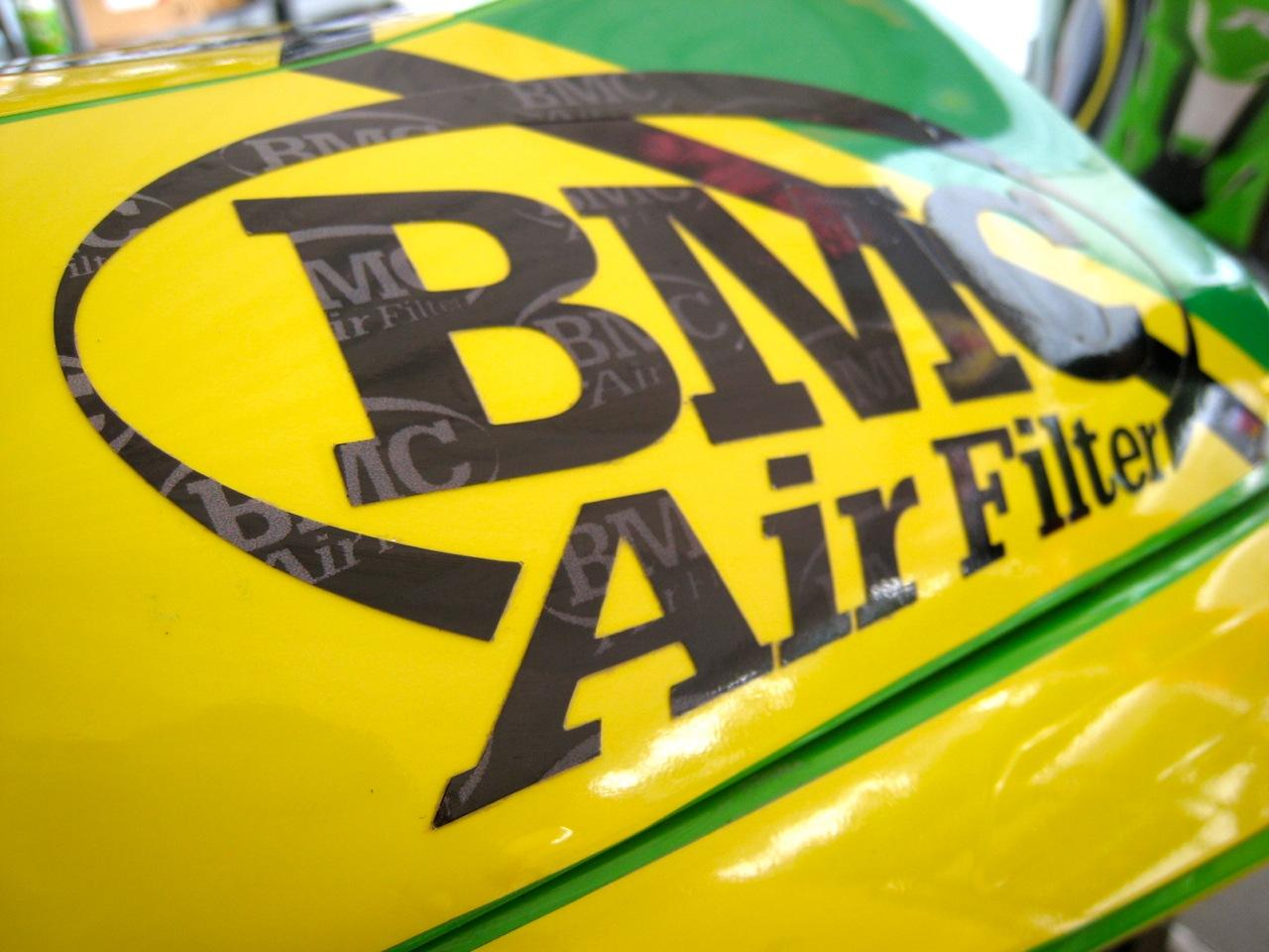 BMC Air Filter Vinyl Sponsor