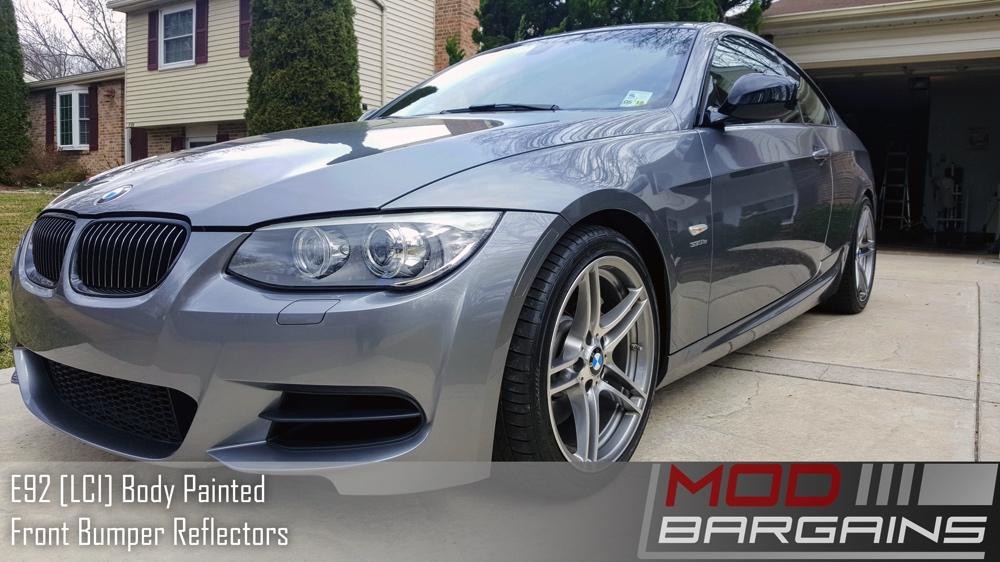 Painted BMW E92 LCI Reflectors