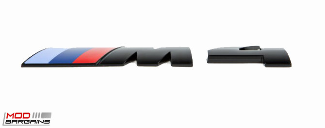 Gloss Black Competition Package Trunk Emblem for 2014+ BMW M4 F82