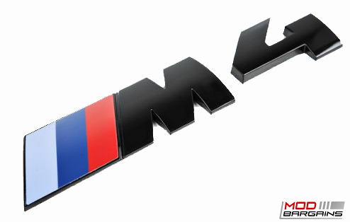 Gloss Black Competition Package Trunk Emblem for 14+ BMW M4 F82