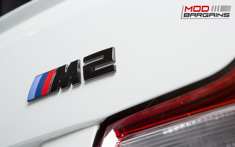 Black Chrome Trunk Emblem for 2016 BMW M2 F87