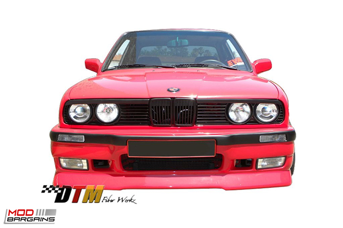 DTM Fiber Werkz E36 M3-Style Rear Bumper for 1984-91 BMW 3-Series [E30] (FRP), Side Skirts, REAR bumper, modbargains.com