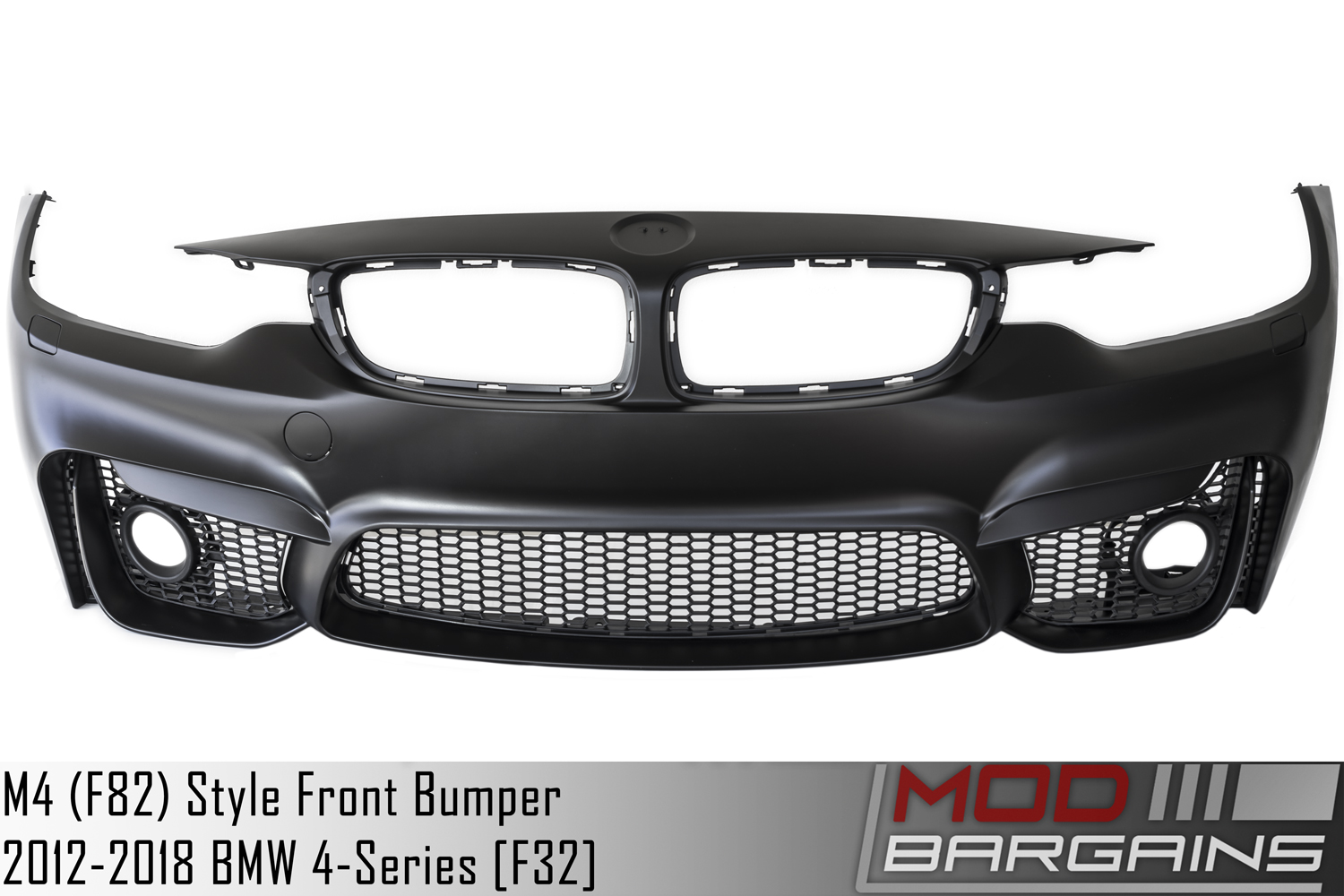 bmw 428i 430i 435i 440i M4 Sytle Front Bumper Unpainted Front View