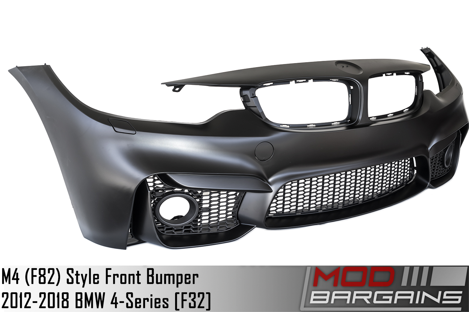 bmw 428i 430i 435i 440i M4 Sytle Front Bumper Unpainted Side View