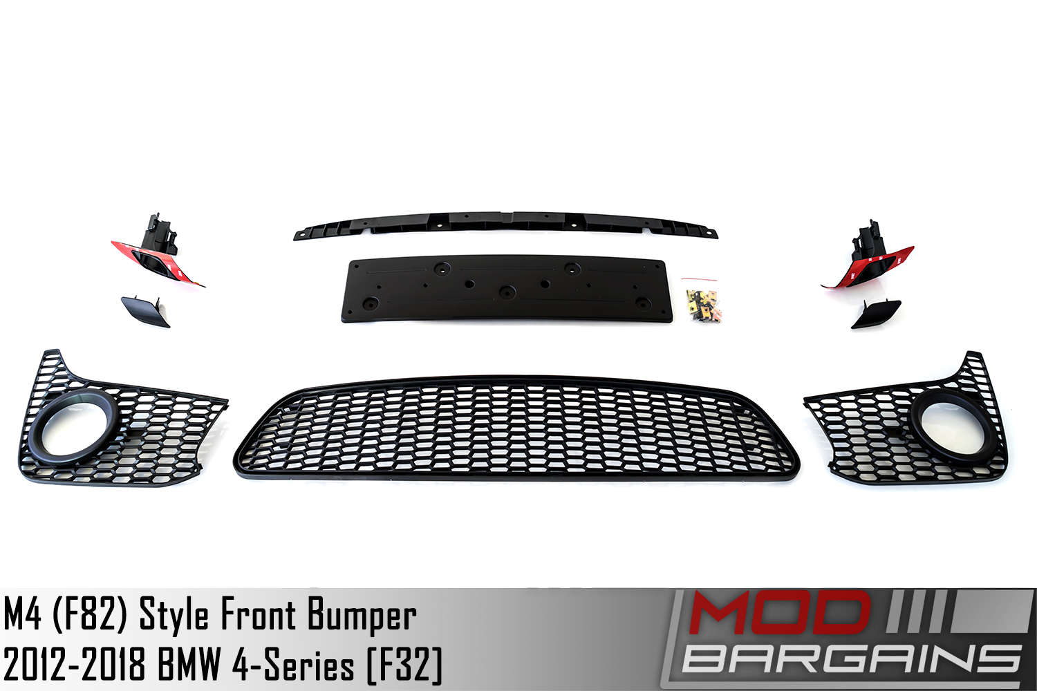 bmw 428i 430i 435i 440i M4 Sytle Front Bumper Included parts