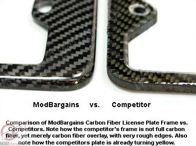 Carbon Fiber License Plate Frame Sold at ModBargains.com