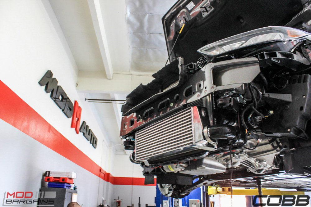 Cobb Intercooler Installed on Ford Focus ST