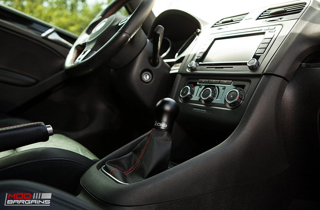 Cobb Shift Knob Black on Black for 2010-2014 VW Golf GTI MK6