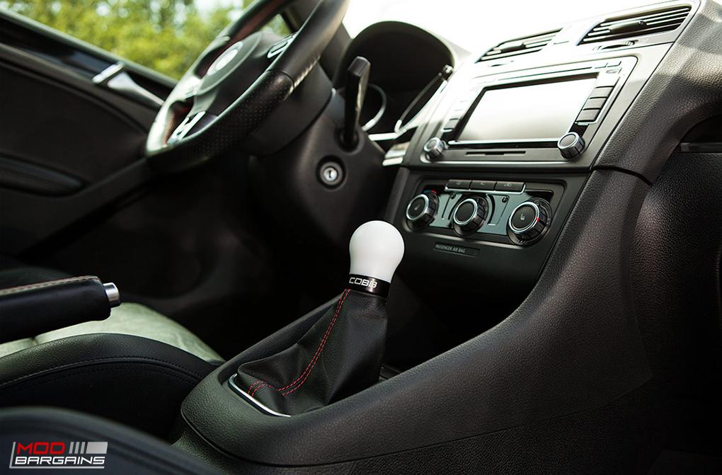 Cobb Shift Knob White w/ Black for 2010-2014 VW Golf GTI MK6