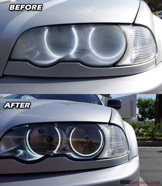 Purchase BMW E46 Sedan Coupe Replacemen Clear Headlights @ ModBargains.com