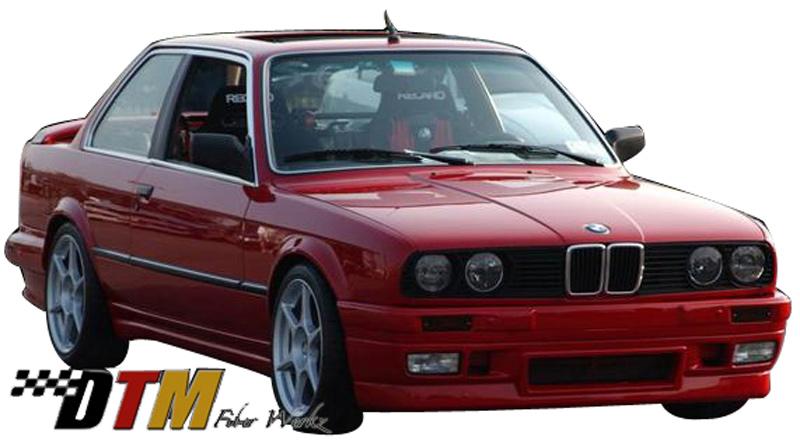 DTM Fiber Werkz BMW E30 BRYTN Front Bumper Mounted View 2
