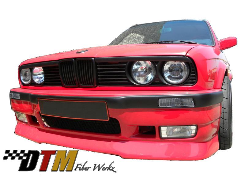 DTM Fiber Werkz E30 E36 M3-Style Front Bumper 4
