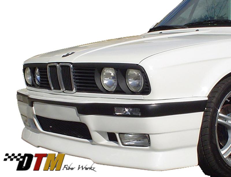 DTM Fiber Werkz E30 E36 M3-Style Front Bumper 3