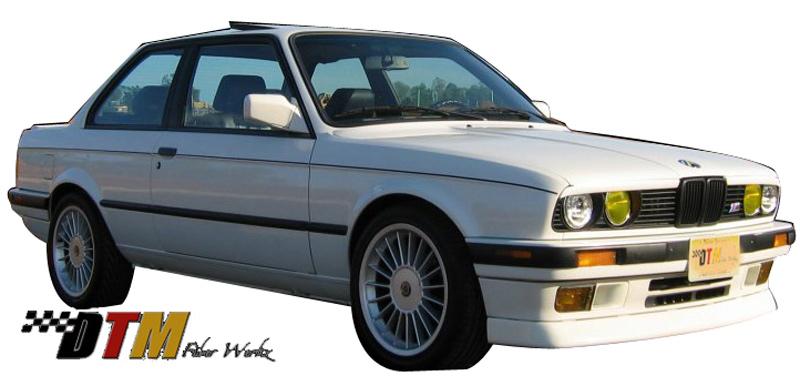 DTM Fiber Werkz BMW E30 DTM Style Front Lip Mounted View 2