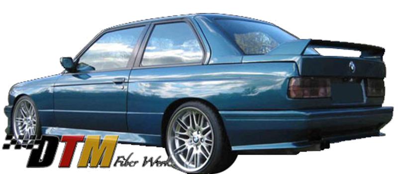 DTM Fiber Werkz BMW E30 M3 Evo Style Rear Bumper View 1