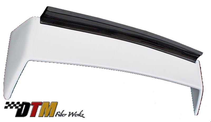 DTM Fiber Werkz BMW E30 EVO DTM Spoiler FRP Base CFRP Super Long Gurney Flap