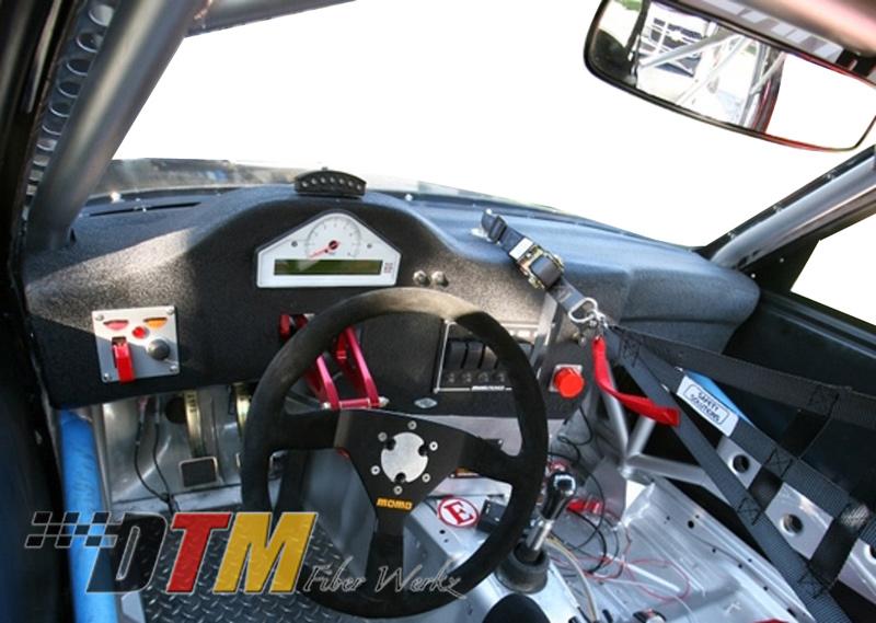 DTM Fiber Werkz BMW E30 Race Dash FRP Installed