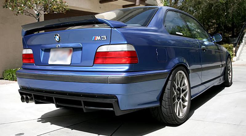 DTM Fiber Werkz BMW E36 M3 DTM Style Rear Diffuser [FRP] View 5