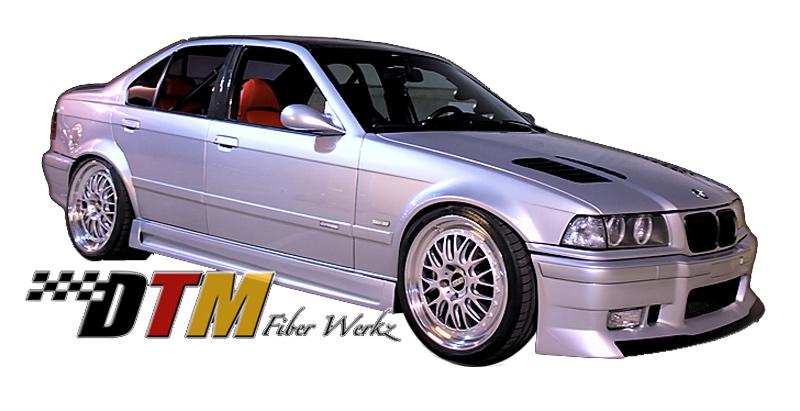 DTM Fiber Werkz BMW E36 GTR-S Style Side Skirts View 1