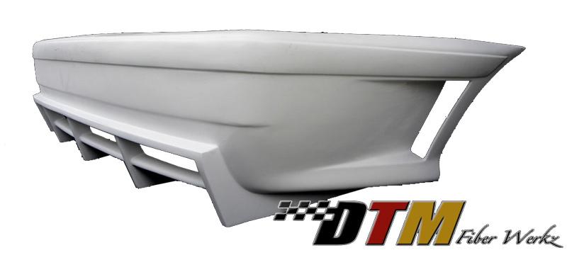 DTM Fiber Werkz BMW E36 GTR-S Style Rear Bumper With Diffuser 1