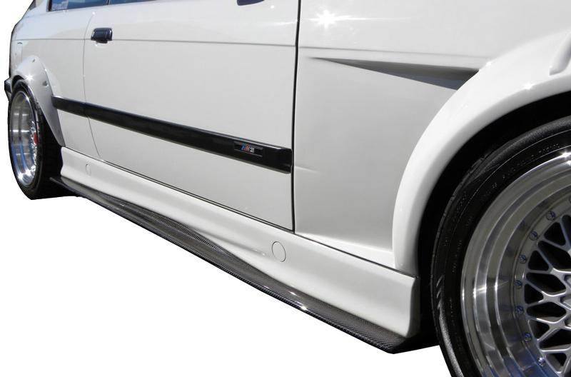 DTM Fiber Werkz BMW M3 GTR-S Side Skirt Diffuser Extensions View 1