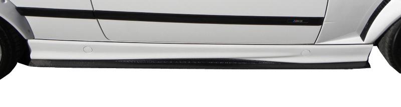 DTM Fiber Werkz BMW M3 GTR-S Side Skirt Diffuser Extensions View 2