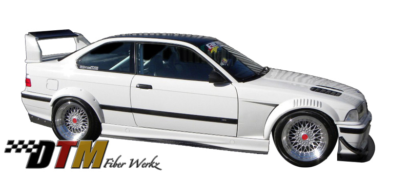 DTM Fiber Werkz BMW M3 GTR-S Side Skirt Diffuser Extensions View 5