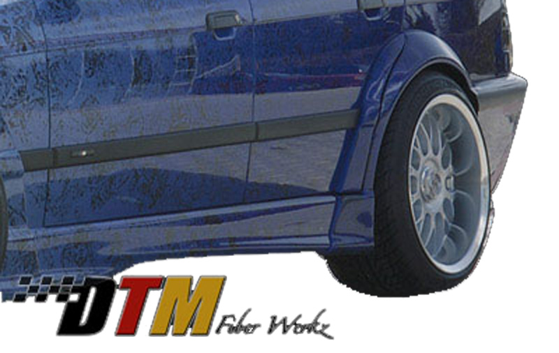 DTM Fiber Werkz BMW E36 RG Style Fender Flares View 1