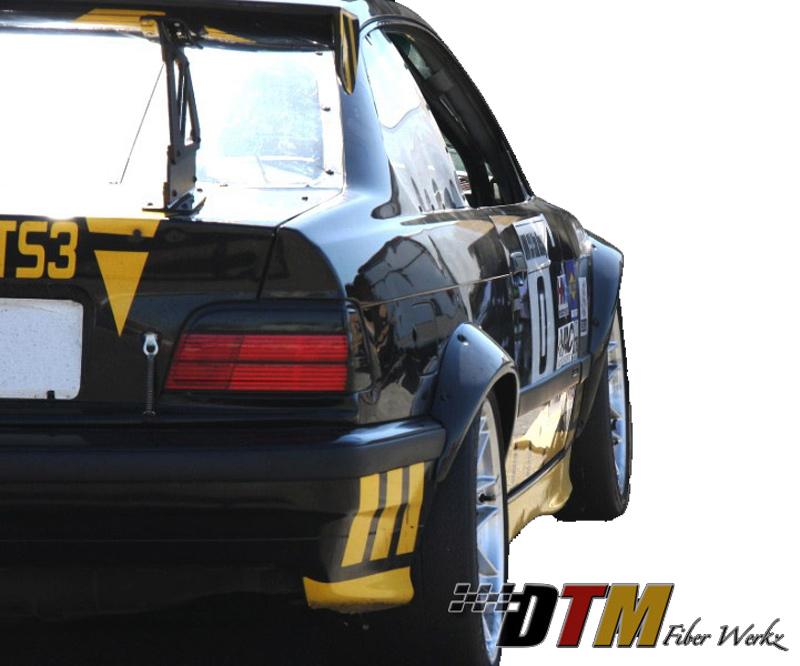 DTM Fiber Werkz BMW E36 Rivet On Fender Flares FRP View 5