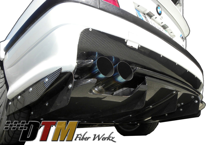 DTM Fiber Werkz BMW E36 M3 VRS Style Upper Rear Diffuser [CFRP] View 1
