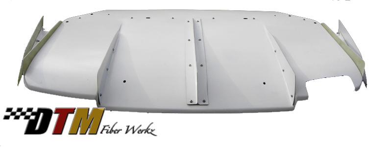 DTM Fiber Werkz BMW E36 M3 VRS Style Rear Diffuser [FRP] View 1