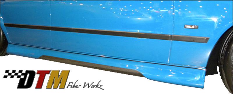 DTM Fiber Werkz BMW E39 HM Style Side Skirts Mounted Carbon Fiber Insert
